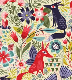 I want a duvet cover made from this pattern so I can huddle in spring while reading in winter. | Helen Dardik