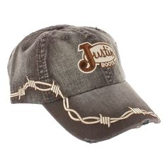 Justin Distressed Barbwire Ball Cap