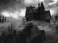 Spooky house, lovely photography.