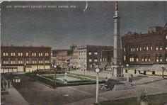 Monument Square at Night; c.1910s
