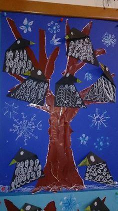 Winter Art Projects, Kraken, Animal Crafts, Fall Crafts, Bunt, Origami, Kindergarten, Birds, How To Make