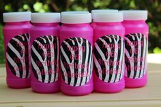 Zebra Party Favors