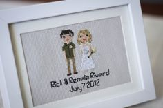 My cousin, Renata, got married last summer in Maine. This was my gift to them.  http://stitchpeople.com/products/custom-family-portrait?utm_source=lizzy_pinterest_medium=social_content=rick_renata_campaign=summer_pinterest