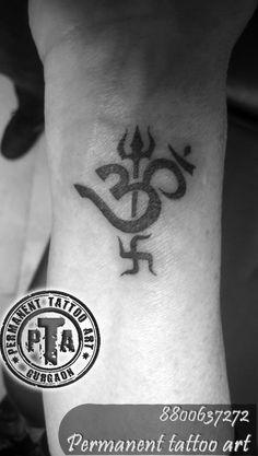 Tri shakti yantra tattoo, om tattoo, om tattoo design with trishul and swastika, om tattoo design on wrist, black om tattoo design, small om tattoo, om trishul and swastik tattoo Done by -Deepak Karla 8800637272 AT- Permanent tattoo art, Gurgaon Delhi/NCR http://www.permanenttattooart.com/ https://www.facebook.com/PermanentTattooArt tattoo in Gurgaon (Haryana)