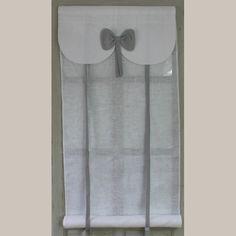 Store Noeud Gris Largeur 60cm Aux Cotonnades de Mathilde.