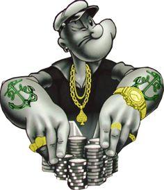 gangster cartoon photos | PSD Detail | Popeye gangsta | Official PSDs