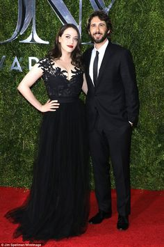 Best supportive girlfriend: Kat Dennings donned a vampy, cleavage-boosting gown to support...