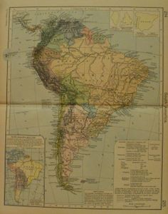 Argentinachileparaguay and uruguay or brazilbritishfrench argentinachileparaguay and uruguay or brazilbritishfrench dutch guiana large map 1941 new international atlas of the world vintage pinterest gumiabroncs Image collections