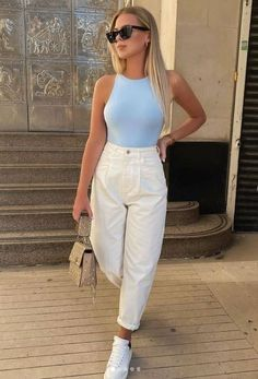 Trendy Summer Outfits, Basic Outfits, Cute Casual Outfits, Casual Summer, Just Style, Looks Style, Casual Looks, Look Fashion, Fashion Outfits