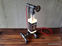 Steampunk Bottle Lamps