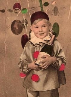 no creepy kid dressed like a harlequin i do not want more champagne