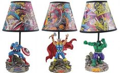 Marvel Comics Statue Lamps