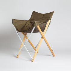 Foldable camping chair. Snow Peak Garden Take Chair Olive Green