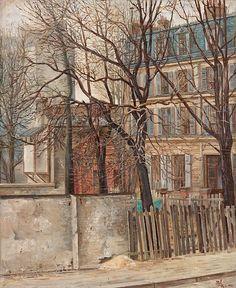 blastedheath:  Otte Sköld (Swedish, 1894-1958), 20 rue Ernest Cresson, Paris, 1925. Oil on copper, 59 x 49cm.
