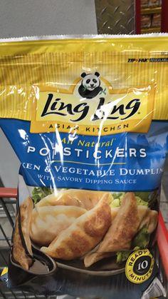 9 Potstickers is 390 calories I'd add 2 cups of green veggies 60 calories
