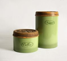 #Coffee and Sugar Canister Set, #Avocado #Green,  View more on the LINK: http://www.zeppy.io/product/gb/3/177097721/