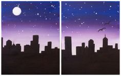 "couples paint night | Couples Painting - ""Night Cityscape"", Artist: Alysia"