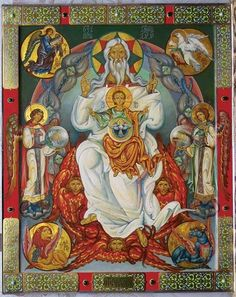 Whispers of an Immortalist: Icons of God 2 The Holy Trinity Religious Icons, Religious Art, Faith Of Our Fathers, Biblical Art, Byzantine Icons, Catholic Art, Orthodox Icons, Medieval Art, Sacred Art