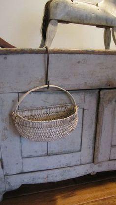 Hang basket with iron hook
