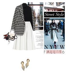 """Day Three: The Best NYFW Street Style"" by erino9519 ❤ liked on Polyvore featuring Theory, Chanel, The Row, River Island, Kate Spade, Guide London, women's clothing, women, female and woman"