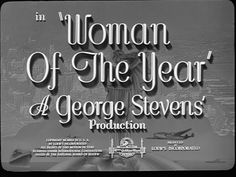 Woman of the year 1942 movie title