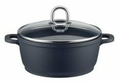 ELO 97128 Rubicast Cast Aluminum Non-Stick Stock Pot with Glass Lid, 6-1/2-Quart, Black by Leuble Inc./ELO. $103.78. 4-year warranty. Cast aluminum is the best heat conductor, light weight, doesn't chipor crack and heat resistant. Oven safe up to 45 f and dishwasher safe. Perfect for all stove tops except induction. High quality robust non stick coating. Cast aluminium is becoming increasingly popular thanks to its variety of positive properties. The material is excellen...