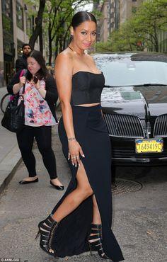 La La Anthony channels Kim Kardashian in black two-piece dress in NYC - Celebrity Fashion Trends Star Fashion, Fashion Outfits, Fashion Trends, Black Two Piece, Black Goddess, Kardashian Style, Two Piece Dress, Fashion Books, Beautiful Black Women