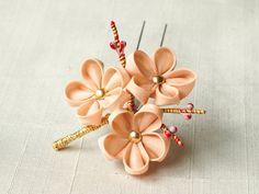 Pink ume kanzashi by elblack on DeviantArt