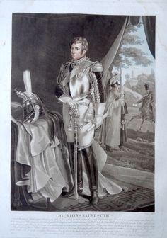 Laurent Gouvion Marquis de Saint-Cyr (né le 13 avril 1764 à Toul - mort à Hyères le 17 mars 1830) - Maréchal d'Empire - gravé par Charon d'après Aubry et publié chez Jean - MAS Estampes Anciennes - Antique Prints
