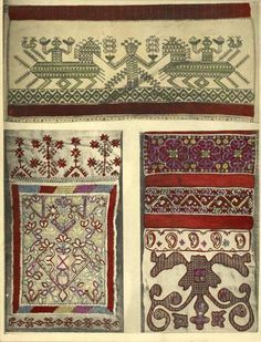 Northern Russian embroidery design work.