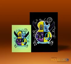 Benji's Bar Mitzvah logo #invite #invitation #party #illustration #colour #drawing #music #guitar #design #houseofdbdesign #bespoke #personalized #personalised #unique #graphicdesign #logo #slash #marshallamps #theeagles #hotelcalifornia