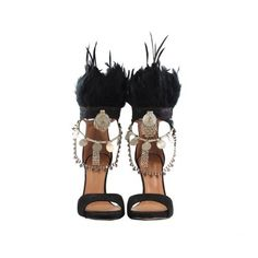 Banjhara Layer Heels by Layer Boots. Boho Heels, boho shoes, gipsy chic. feathers black
