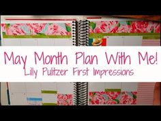 Plan With Me - Month of May in my Erin Condren Life Planner. Using the Lilly Pulitzer Print, First Impressions, for my month of May!