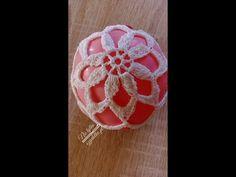 szydełkowa bombka- dla początkujących EN SUBTITLES - YouTube Crochet Christmas Decorations, Crochet Ornaments, Xmas Ornaments, Crochet Home, Crochet Crafts, Crochet Stitches, Snowflakes, Holiday, Anul Nou