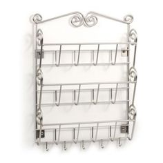 Spectrum™ Scroll Wall-Mount 3-Tier Letter Holder/Key Rack - www.BedBathandBeyond.com