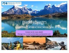 What's on your travel wish list? Princess Cruises Grand Voyages will take you there. Meticulously planned longer sailings to visit the most intriguing places in Europe South America and Asia. You will be immersed in the natural beauty fascinating cities and colorful cultures of each destination. Explore one or more regions or do it all on a 111-day World Cruise that visits five continents and 27 countries. #travel