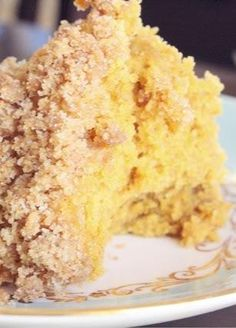 Pumpkin Coffee Cake with Streusel Topping