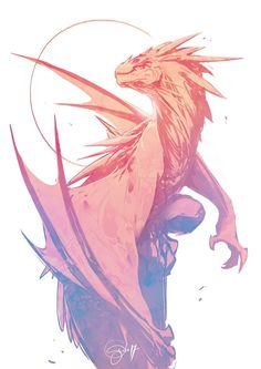 The great maugro dragon Mythical Creatures Art, Mythological Creatures, Magical Creatures, Fantasy Creatures, Fantasy Dragon, Fantasy Art, Dragon Sketch, Creature Drawings, Wolf Drawings