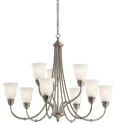 Kichler Lighting 42066 Durham 9 Light Chandelier - transitional - chandeliers - Littman Bros Lighting - foyer?