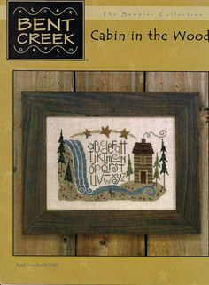 Counted  Cross Stitch  Cabin in the Woods by PointedNeedleDestash, $3.00