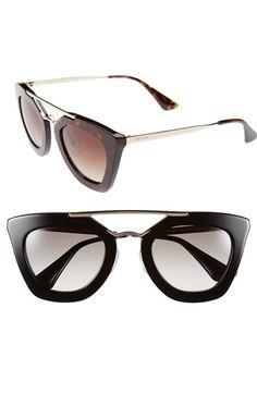 109f232b7ae6 Free shipping and returns on Prada 49mm Retro Sunglasses at Nordstrom.com.  A polished