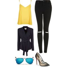 Untitled #223 by gigi3646 on Polyvore featuring polyvore, fashion, style, River Island, IRO, Topshop, Christian Louboutin and Ray-Ban