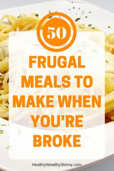 Frugal recipes made from frugal foods that will help you save money on groceries. Eating on a tight budget can be tough. Here are 50 frugal meal recipes to help you feed your family on a budget. Save money on food by cooking these frugal meals. Eat On A Budget, Budget Meal Planning, Dinner On A Budget, Cooking On A Budget, Tight Budget, Dinner Ideas, Cooking Ideas, Easy Cooking, Meal Ideas