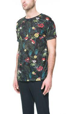 FLORAL T-SHIRT - T-shirts - Man - ZARA United States ($29.00) - Svpply