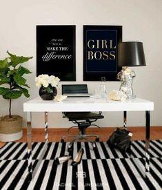 ♡ @thaynakarolaynee ♡ Home office decor escritório