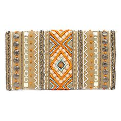 News From Guatemala Brown Beaded Clutch (€30) ❤ liked on Polyvore featuring bags, handbags, clutches, lulu handbags, brown clutches, beaded purse, envelope clutch and flap handbags