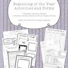 This is a set of seven tried and true beginning of the year activities. I've also included three of my back to school forms! These student sheets a...