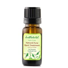 Natural Acne Spot Treatment - - Overnight Cure Fast absorbed for quick results. Ultra concentrated for extra strength makes this so effective that it immediately stops the breakout or pimple from getting bigger and helps it to disappear. Fast acting, this natural spot treatment goes deep down to the source of acne bacteria. Powerful essential oils of Manuka, Camphor and Tea Tree are anti-bacterial ingredients that help prevent acne from recurring.