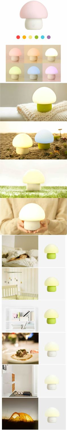 USB Rechargeable Mushroom Led Lamp