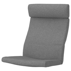 IKEA - POÄNG, Armchair cushion, Lysed gray, This cover's ability to resist abrasion has been tested to handle cycles. A cover that withstands cycles or more is suitable for furniture that should withstand everyday use in the home.